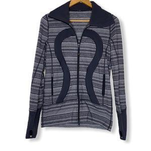 Lululemon zip up jacket gray size 6